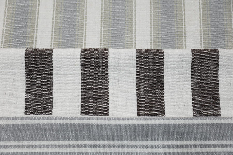 Linen Cotton Look Sofa Fabric Polyester Upholstery Fabric Stripe Yarn-Dyed Decorative Fabric