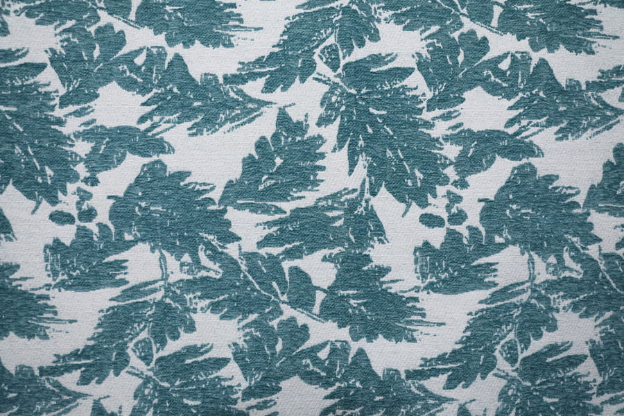 Leaf Design Jacquard Carpet Fabric Polyester Upholstery Fabric Yarn-Dyed Thick Decorative Fabric