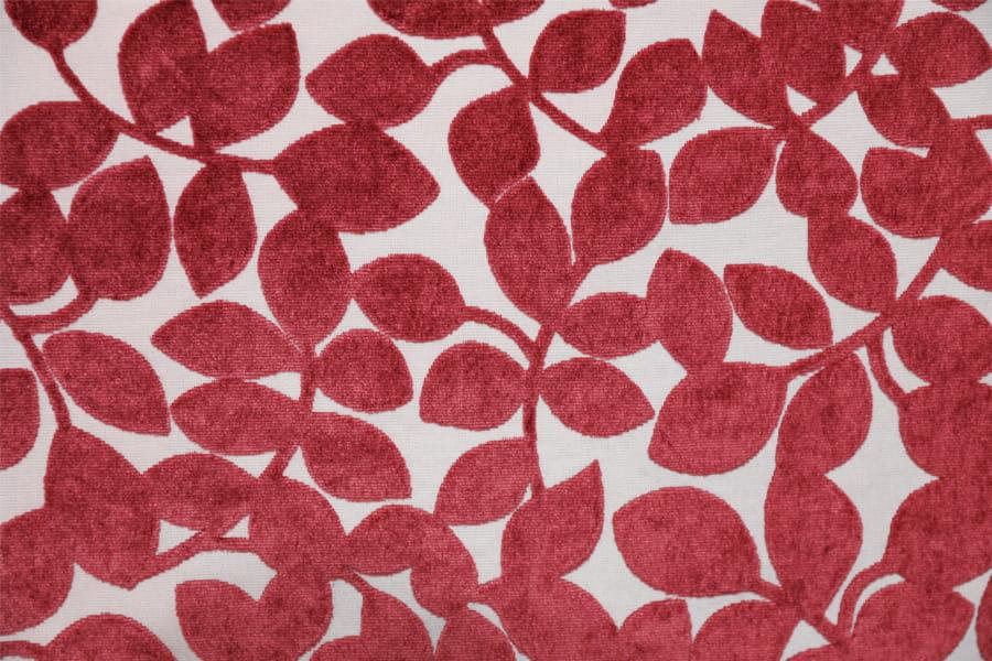Leaf Velvet Jacquard Carpet Fabric Polyester Upholstery Fabric Cut Velvet Thick Decoratice Fabric