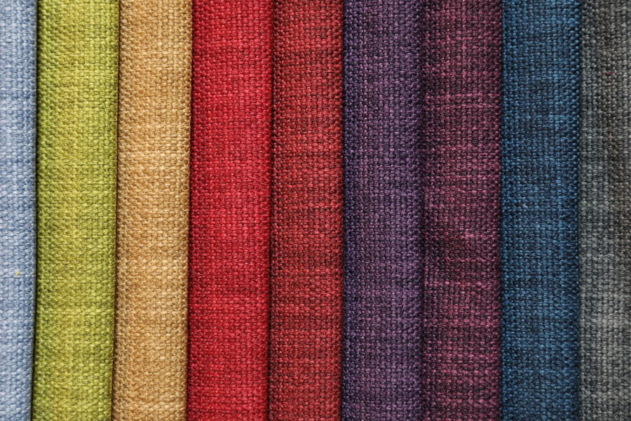 Cationic Linen Polyester Furniture Fabric Plain Design Soft Upholstery Fabric Piece-Dyed With Tc Backing Decorative Fabric