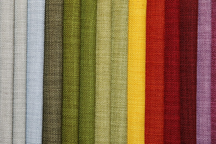 Slim Linen Look Plain Furniture Fabric Polyester Solid Upholstery Fabric Piece-Dyed Tc Backing Decorative Fabric
