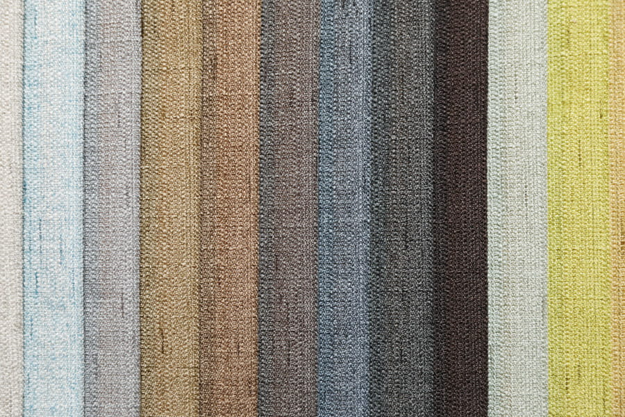 Linen Polyester Plain Furniture Fabric Solid Upholstery Fabric Piece-Dyed Tc Backing Decorative Fabric